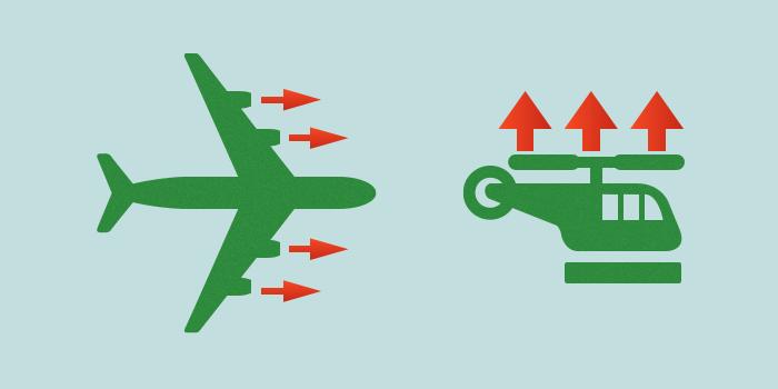 スロットル(固定翼と回転翼の違い)