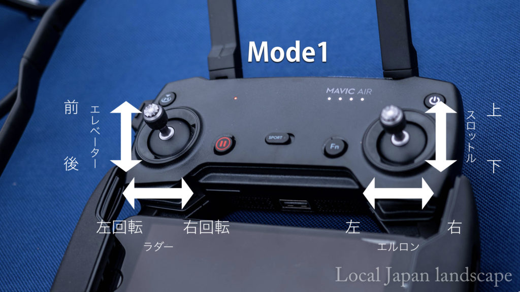 Mavic Airプロポモード(Mode1)
