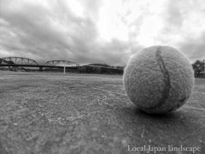 残された庭球(四万十市)
