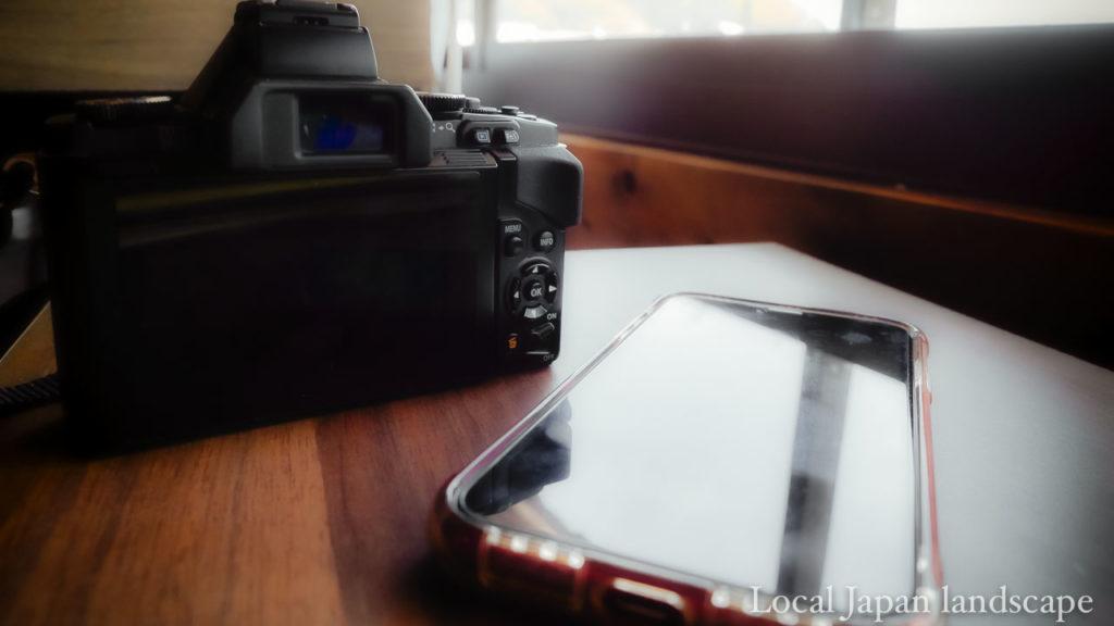 ミラーレスカメラとスマートフォン