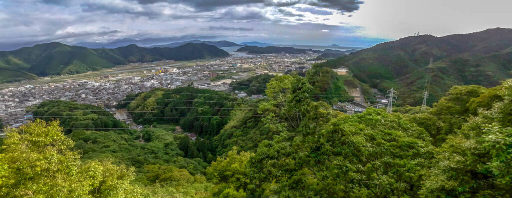 幡多十景「金比羅山(宿毛)」の参道からの景色
