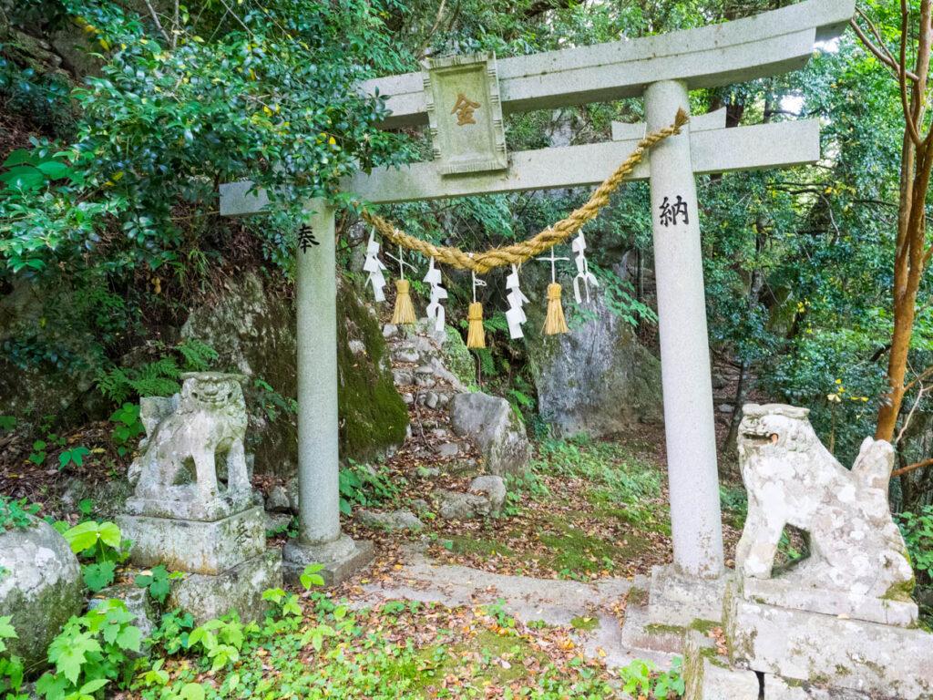 西土佐の金刀比羅山(奥の院への入り口)