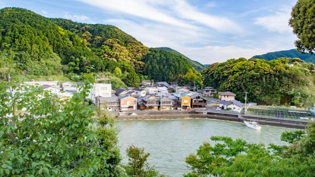 七日島天満宮から見た小筑紫湾(宿毛市小筑紫)