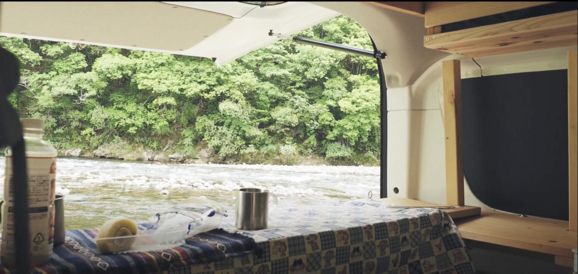 キャンプ場のスクラムバン